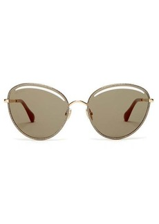 Jimmy Choo Mayla round metal sunglasses