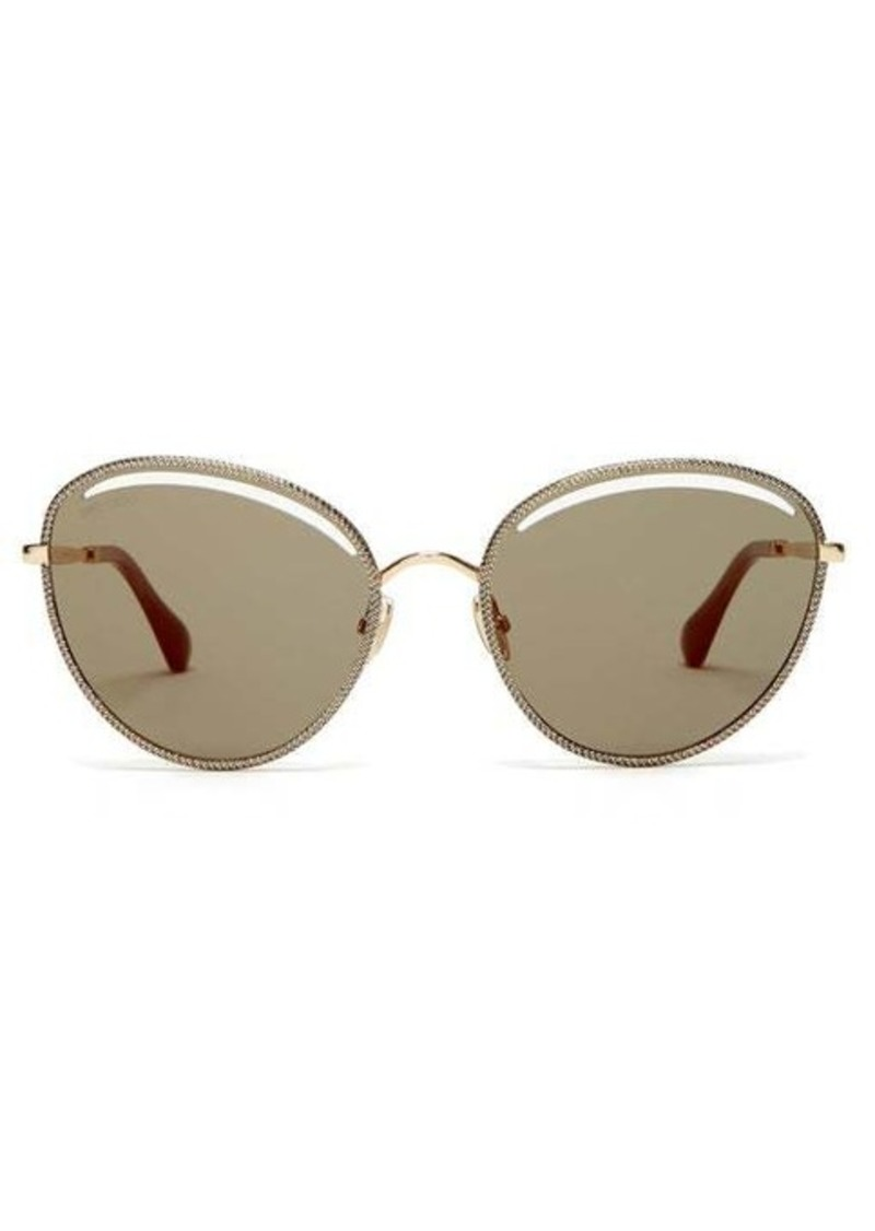 Jimmy Choo Mayla round metal sunglasses