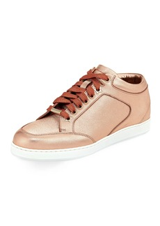 Jimmy Choo Miami Metallic Leather Sneakers