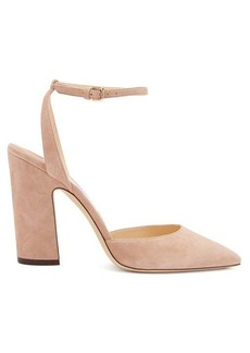 Jimmy Choo Micky 100 curved-heel suede pumps