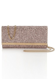 Jimmy Choo Milla Coarse Glitter Clutch