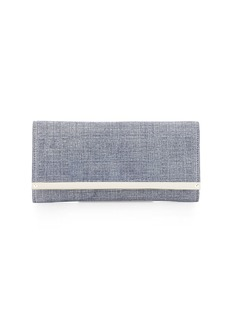 Jimmy Choo Milla Denim Clutch Bag