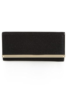Jimmy Choo 'Milla' Glitter Lamé Wallet on a Chain