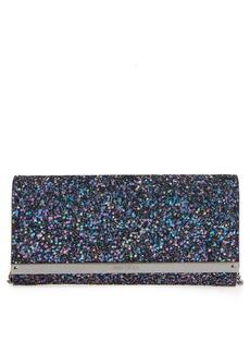 Jimmy Choo Milla Glitter Wallet on a Chain