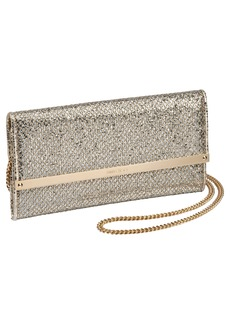 Jimmy Choo Milla Glitter Wallet on a Chain