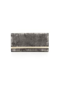 Milla Metallic Suede Clutch Bag