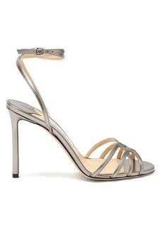 Jimmy Choo Mimi 100 metallic-leather sandals