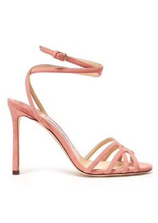 Jimmy Choo Mimi 100 wrap-around suede sandals