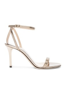 Jimmy Choo Minny 85 Mirror Leather Sandal