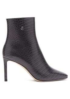 Jimmy Choo Minori 85 crocodile-effect leather ankle boots