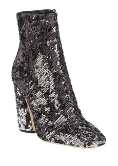 Jimmy Choo Mirren Sequined Block-Heel Booties