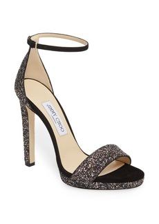 Jimmy Choo Misty Glitter Platform Sandal (Women)