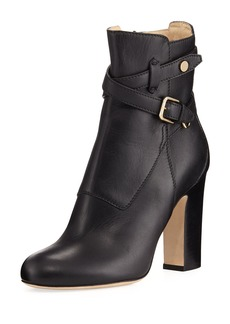 Jimmy Choo Mitchel Ankle-Strap Leather Boot