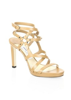 Jimmy Choo Monica Leather Sandals