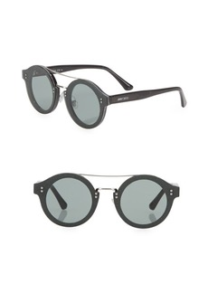 Jimmy Choo Montie 64MM Round Glitter Sunglasses