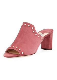 Jimmy Choo Myla Studded Suede Slide Sandal