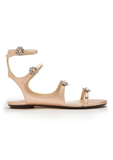 Jimmy Choo Naia crystal-embellished leather sandals