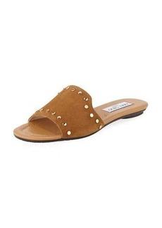 Jimmy Choo Nanda Studded Suede Flat Slide Sandal