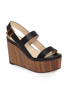 Jimmy Choo Nazli Woodgrain Wedge Sandal (Women)