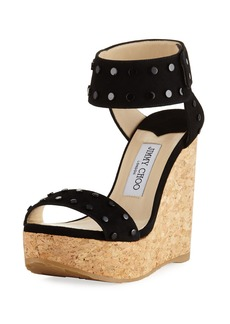 Jimmy Choo Nelly Cork Platform Wedge Sandal