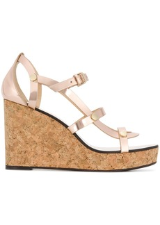 Jimmy Choo Nerissa 100 wedge sandals - Pink & Purple