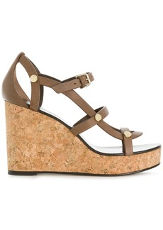 Jimmy Choo Nerissa 100 wedges - Brown
