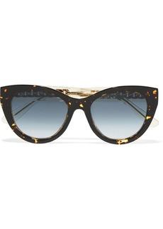 Jimmy Choo Nile cat-eye chain-embellished acetate sunglasses