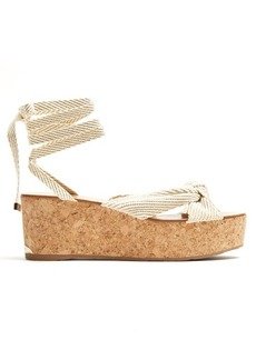 Jimmy Choo Norah rope flatform sandals