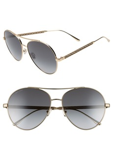 Jimmy Choo Noria 61mm Special Fit Gradient Aviator Sunglasses