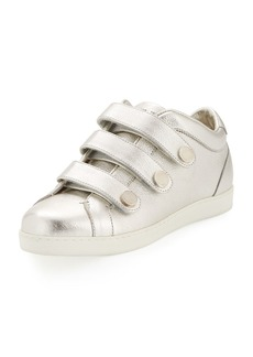 Jimmy Choo NY Metallic Leather Triple-Strap Sneakers