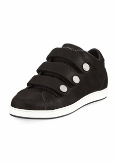 Jimmy Choo NY Three-Strap Leather Sneakers