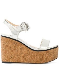 Jimmy Choo Nylah 100 wedges - Metallic