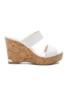 Jimmy Choo Parker 100 Leather Wedge