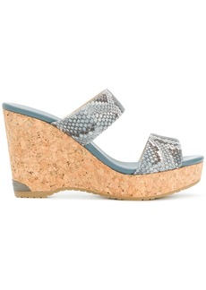 Jimmy Choo Parker wedge sandals - Blue