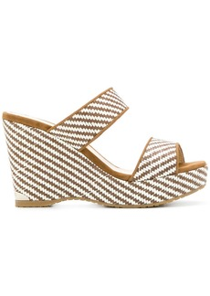 Jimmy Choo Parker wedge sandals - White