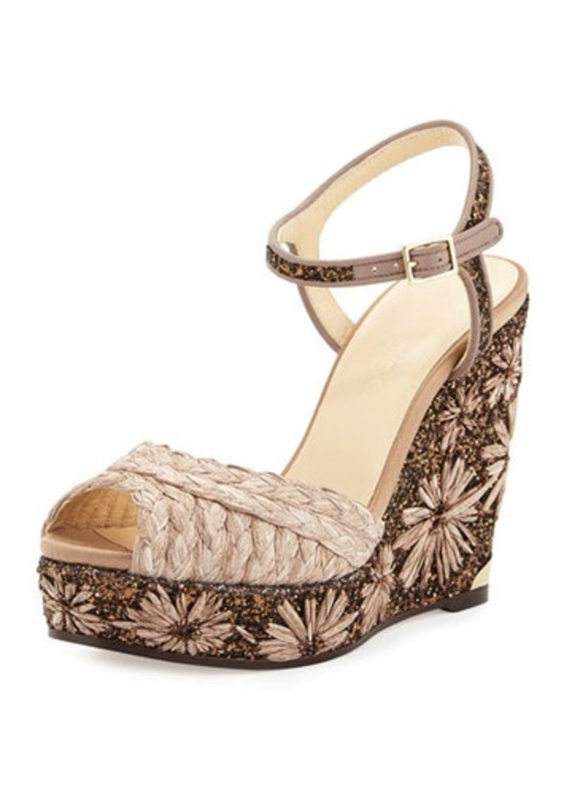 c0a6bc3c011 Jimmy Choo Jimmy Choo Perla Jute Glitter Wedge Sandal
