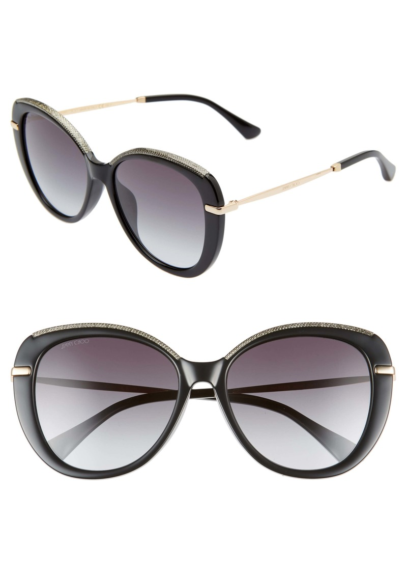 Jimmy Choo Phebe 56mm Special Fit Butterfly Sunglasses