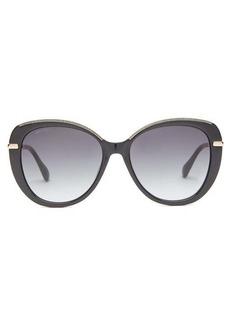 Jimmy Choo Phebe glitter round acetate sunglasses