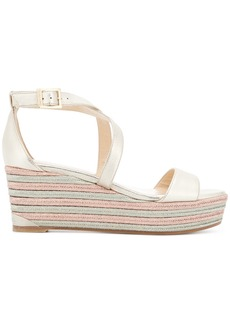 Jimmy Choo Portia 70 wedges - Metallic