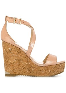 Jimmy Choo Portia wedge sandals - Metallic