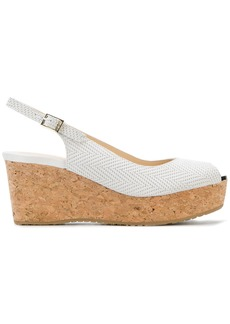 Jimmy Choo Praise wedge sandals - White