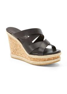Jimmy Choo 'Prisma' Leather Wedge Sandal (Women)