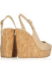 Jimmy Choo Prova 120 patent-leather wedge sandals