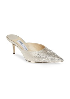Jimmy Choo Rav Crystal Embellished Pointy Toe Mule (Women)