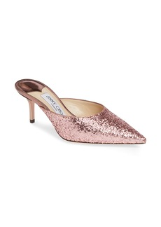Jimmy Choo Rav Glitter Pointy Toe Mule (Women)