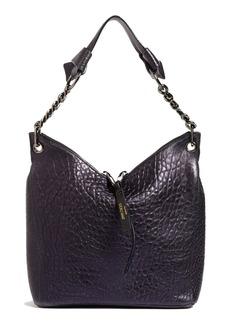 Jimmy Choo Raven Grainy Metallic Leather Shoulder Bag