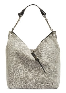 Jimmy Choo Raven Studded Washed Leather Shoulder Bag