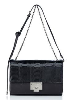 Jimmy Choo 'Rebel' Genuine Snakeskin & Leather Shoulder Bag
