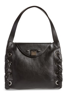 Jimmy Choo Rebel Leather Shoulder Bag