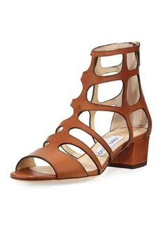 Jimmy Choo Ren Leather Caged 35mm Sandal
